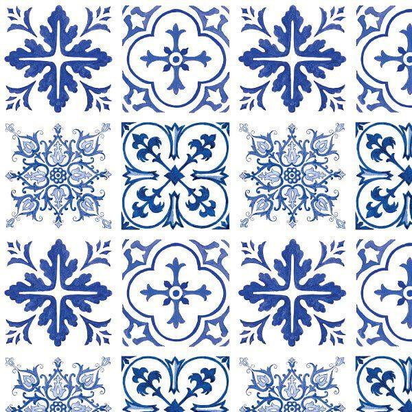 Armario Jose ~ Adesivo azulejo portugu u00eas Viseu 16 peças ou rolo City Decor