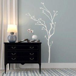 Adesivo de parede árvore branca