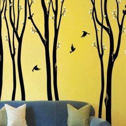 Adesivo de parede árvores na floresta