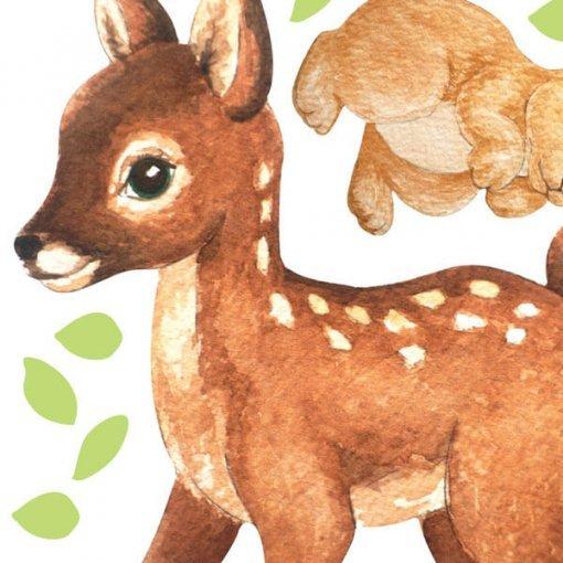 Adesivo decorativo infantil bichinhos da floresta