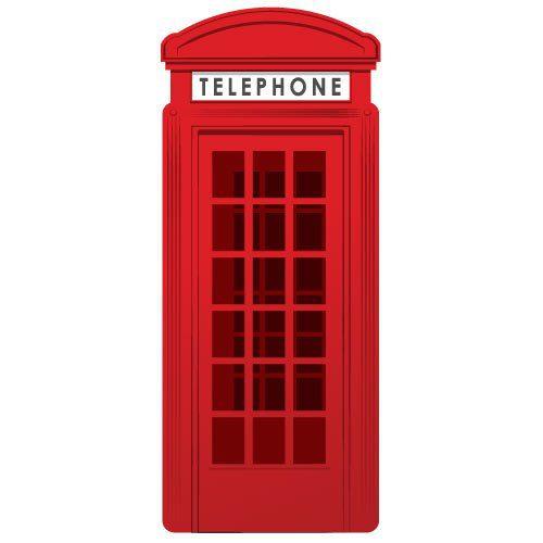 Adesivo de parede cabine telef u00f4nica inglesa City Decor