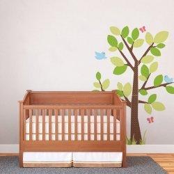 Adesivo de parede infantil árvore estampada