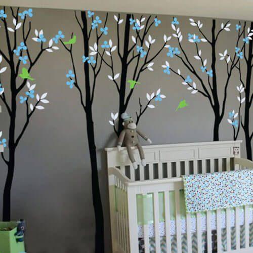 Adesivo de parede infantil árvore grande