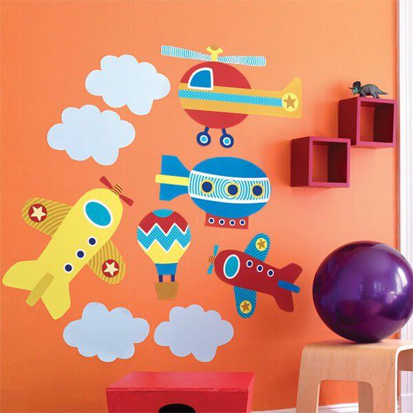 Artesanato Na Escola Ensino Fundamental ~ Adesivo de parede infantil para o alto e avante City Decor