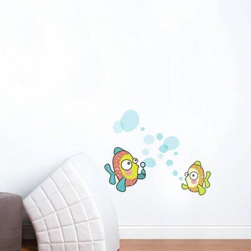 Adesivo de parede infantil bolinha de sabão