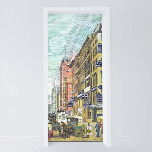 Adesivo para porta Broadway do século 19
