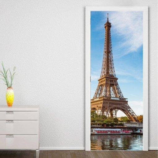 Adesivo p/ envelopamento de porta torre Eiffel