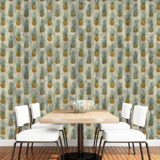 Adesivo papel de parede abacaxis