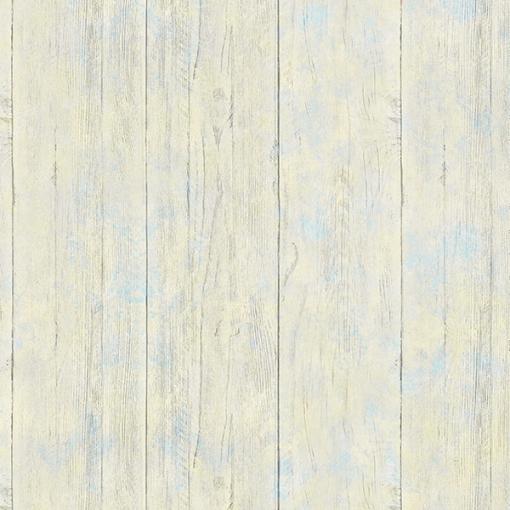 Papel de parede campeche ripas de madeira azul e amarelo