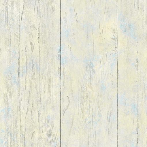 Papel de parede campeche madeira azul e amarelo