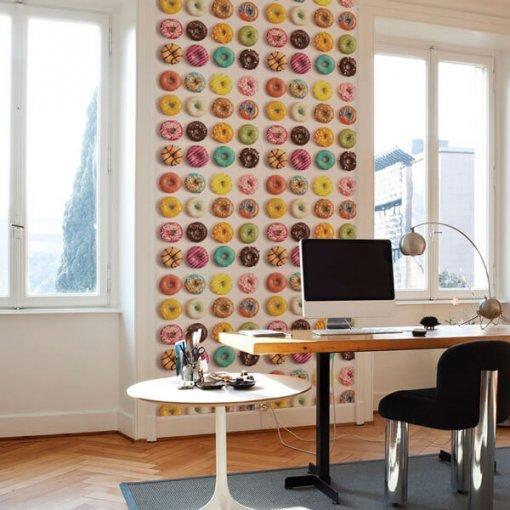 Adesivo papel de parede Donuts sortidos