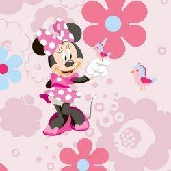 Papel de parede infantil Minnie Mouse
