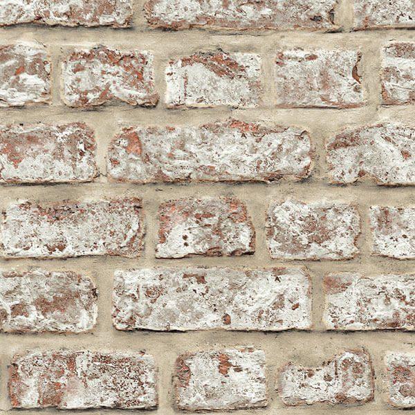 bf12513d2 Adesivo papel de parede tijolo rústico creme - City Decor Adesivos