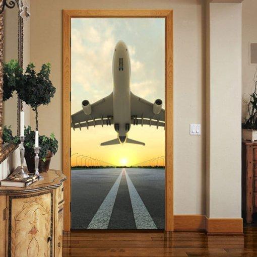 Adesivo de porta avião decolando