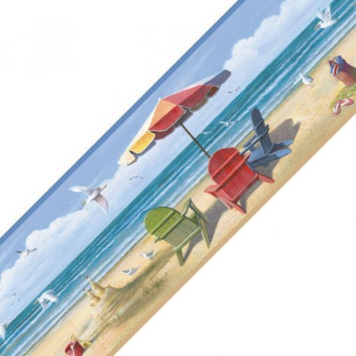 Faixa decorativa de parede Vida na Praia