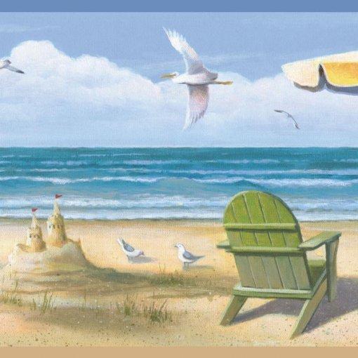 Faixa de parede border castelo de areia na praia