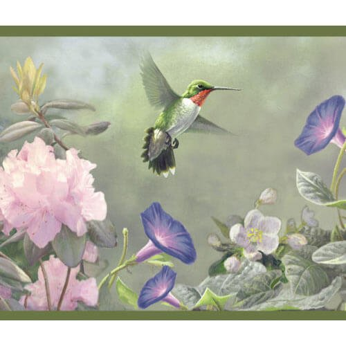Faixa border de parede Beija flor