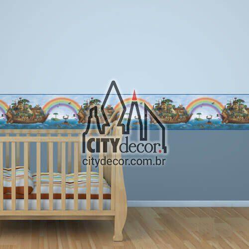 Faixa de parede infantil Arca de Noé