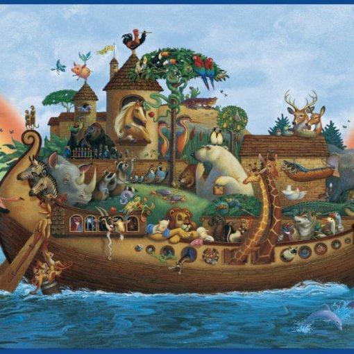 Faixa decorativa infantil Arca de Noé
