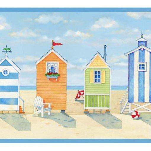 Faixa decorativa cabanas de praia