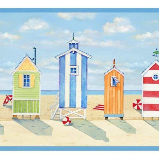 Faixa de parede cabanas de praia