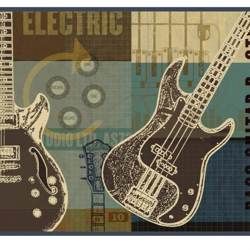 Faixa de parede Guitarras