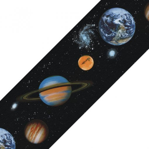 Faixa decorativa de parede Planetas