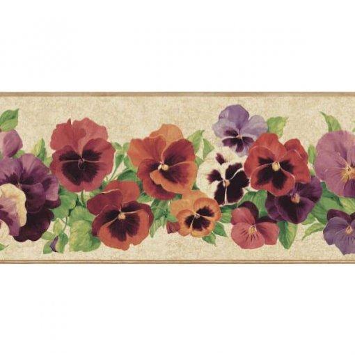 Faixa de parede floral amor-perfeito sortido