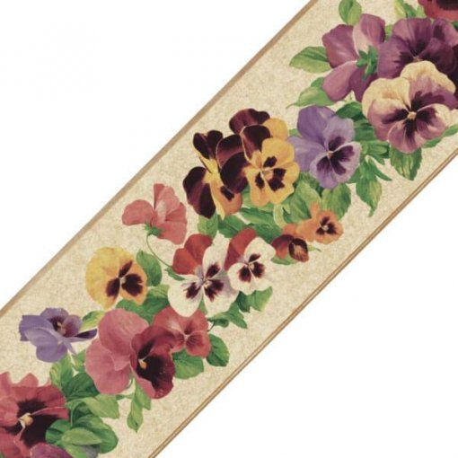 Faixa decorativa floral amor-perfeito sortido