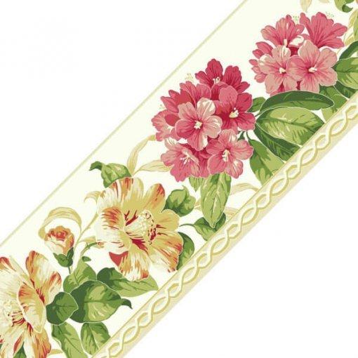 Faixa decorativa floral azaleia - rosa