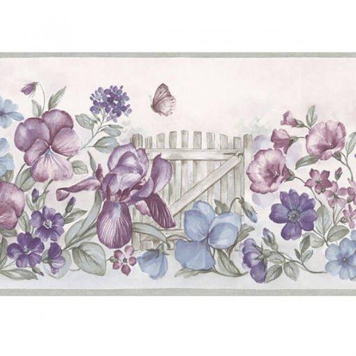 Faixa de parede floral cerca do jardim