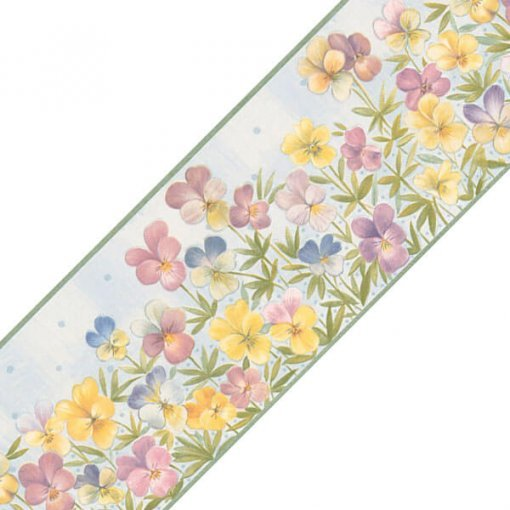 Faixa decorativa floral jardim perfeito