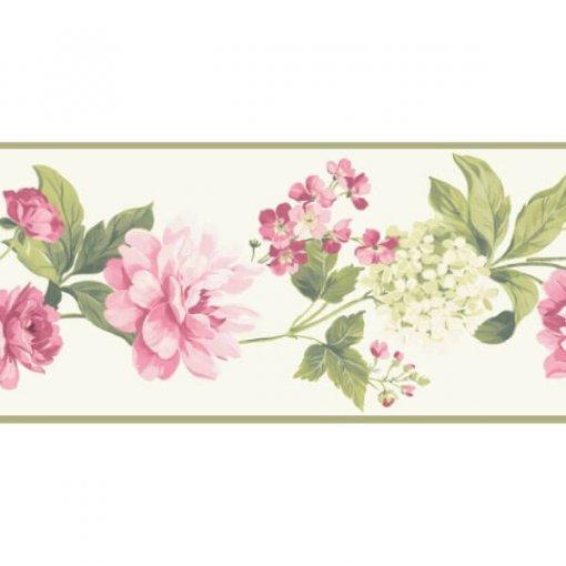Faixa de parede floral peônias