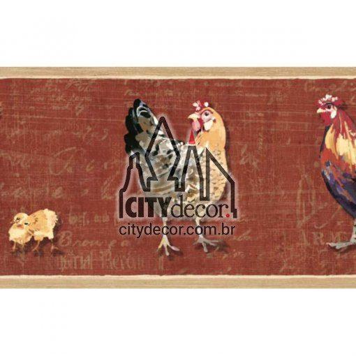 Faixa de parede galinha com pintinhos