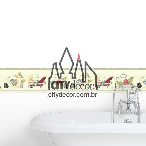 Faixa decorativa para banheiro Hora do banho