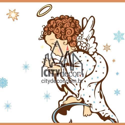 Faixa para quarto de bebê anjos da guarda