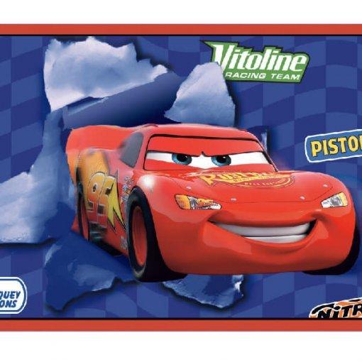 Faixa infantil Carros Disney azul e vermelho
