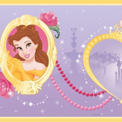 Faixa decorativa infantil Princesas Disney - lilás