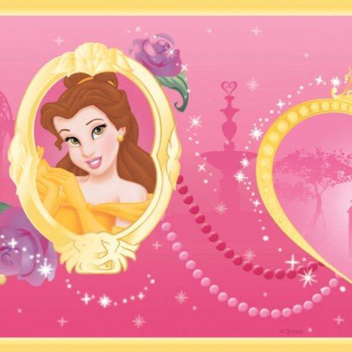 Faixa decorativa infantil Princesas Disney - pink