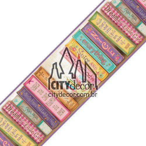 Faixa decorativa feminina Livros de menina