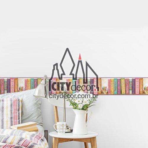 Faixa decorativa para quarto Livros