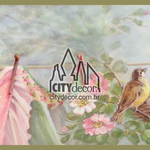 Adesivo passarinhos no varal
