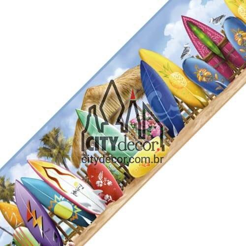 Faixa decorativa Pranchas de surf