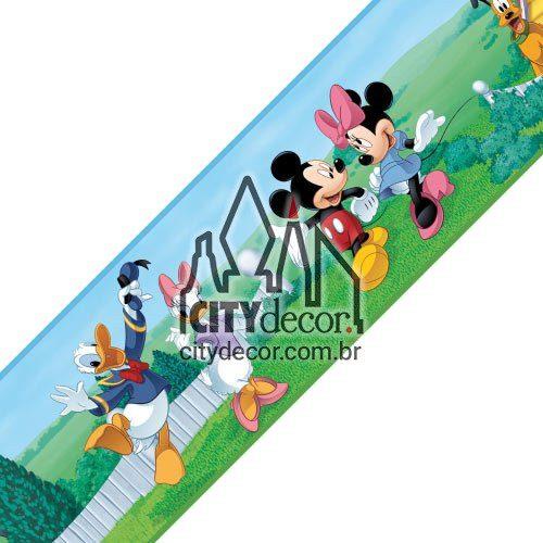 Faixa decorativa para quarto infantil Turma do Mickey