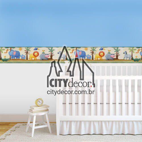 Faixa decorativa para quarto de bebê bichinhos zoológico