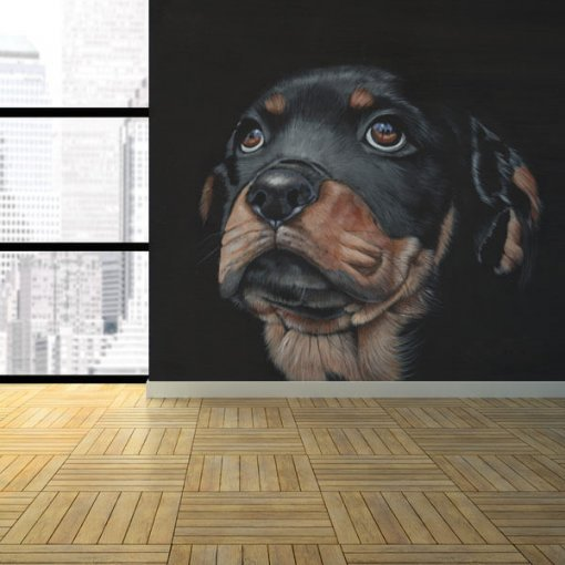 Painel adesivo cachorro Rottweiler