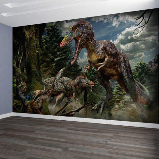 Painel adesivo Dinossauros na Floresta