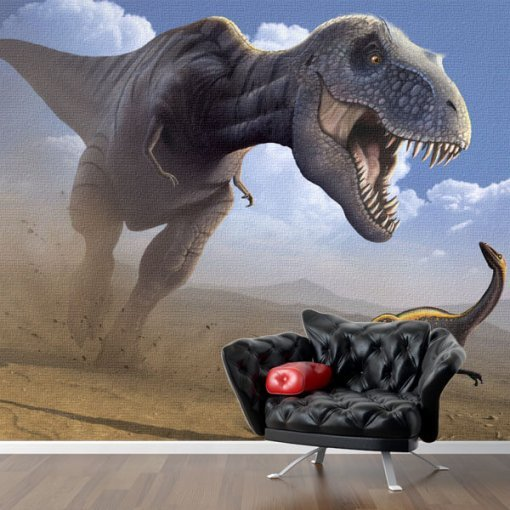 Painel adesivo Tiranossauro em Ataque
