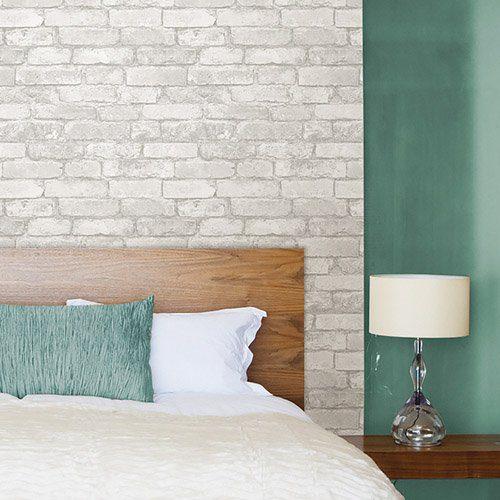 Adesivo de parede tijolos brancos